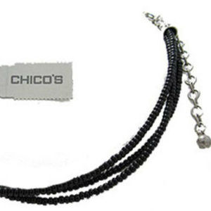 Chico black seed pearl Necklace adjustable NWT